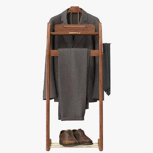 3D windsor wardrobe valet stand