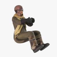 World War 2 Fighter Pilot - Sitting Pose