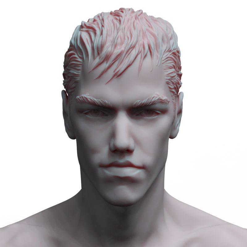 3D model hero head 2