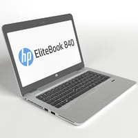 customizable laptop hp elitebook 3D model