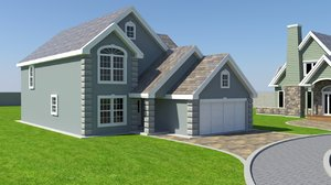 house exterior 3D