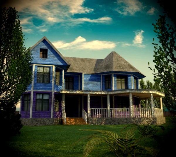 3D house colonial model