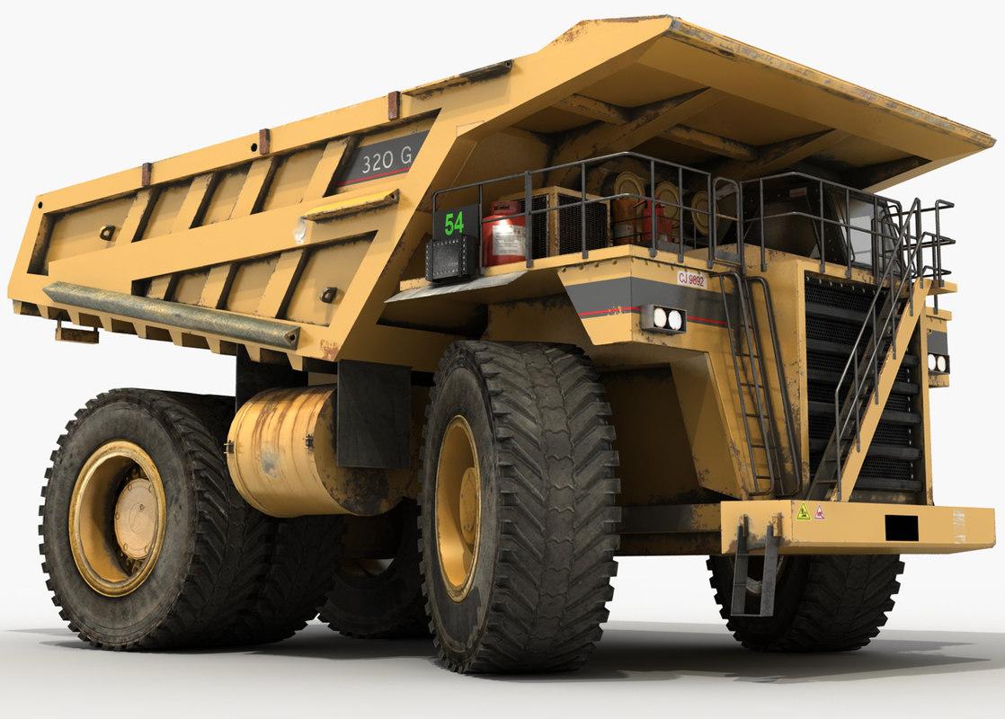 monster dump truck 3D model