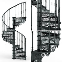 3D model spiral staircase