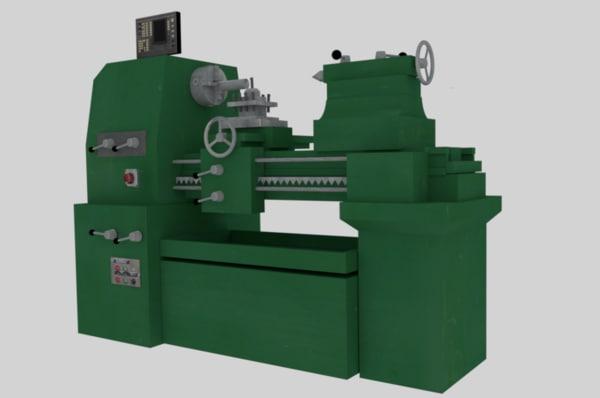 3D turning machine model