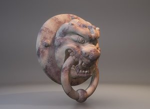 traditional chinese gargoyle model