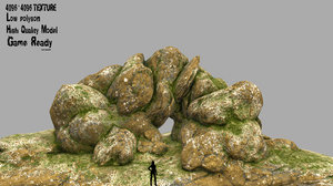 3D model rock cave