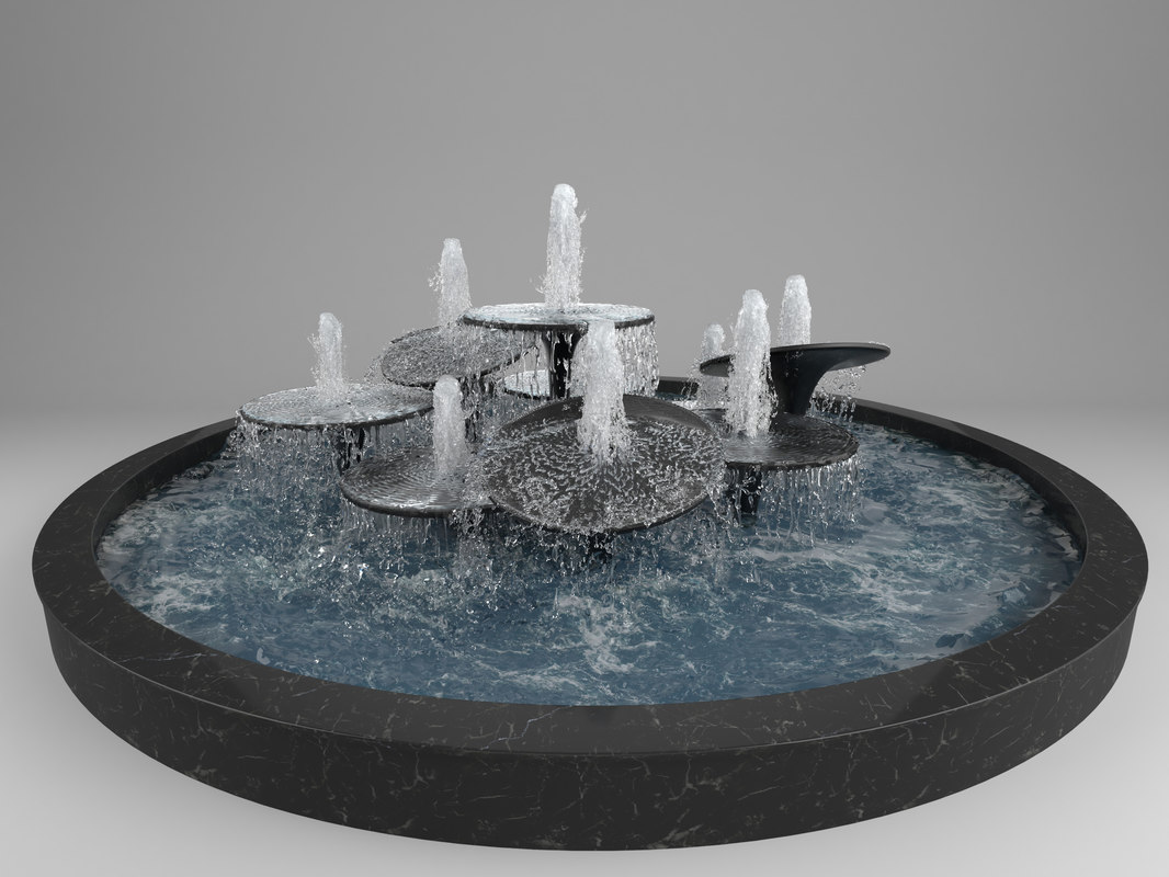 3D simulated fountain