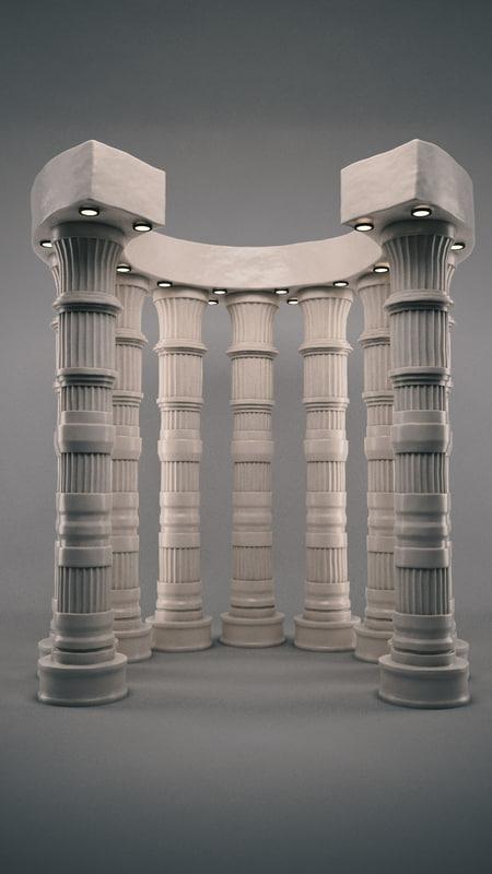 colonne moderne 3D