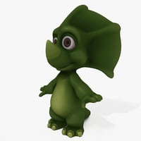 3D triceratops cartoon model