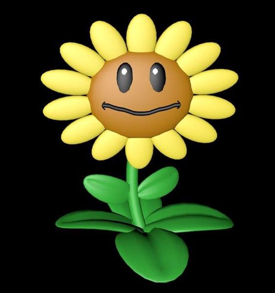 sunflower plants vs model