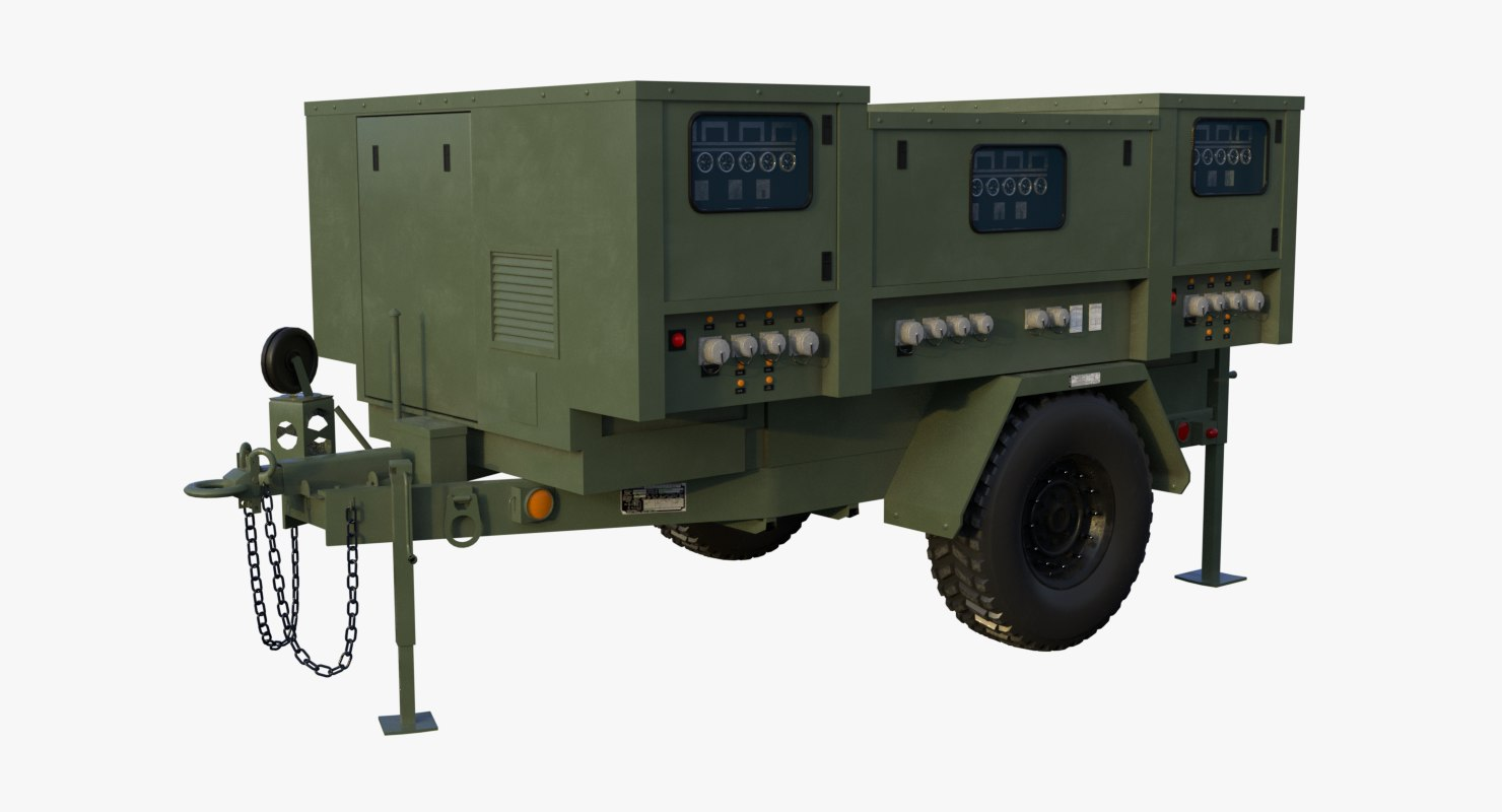 Free 3d Model Military Towable Power Turbosquid 1179958