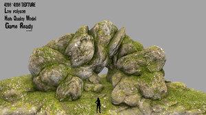 rock cave 3D model
