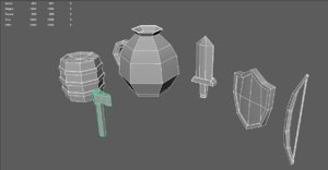 pack medieval 3D model