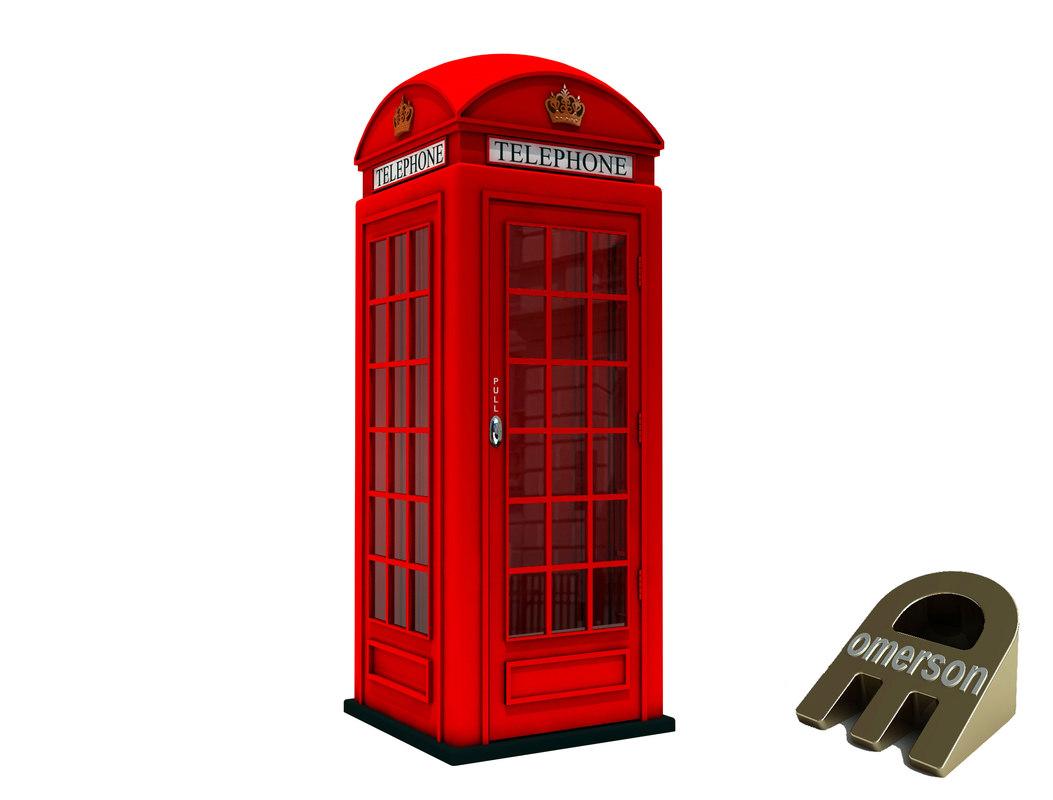 classical british telephone booth 3D