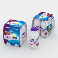 3D actimel berry burst