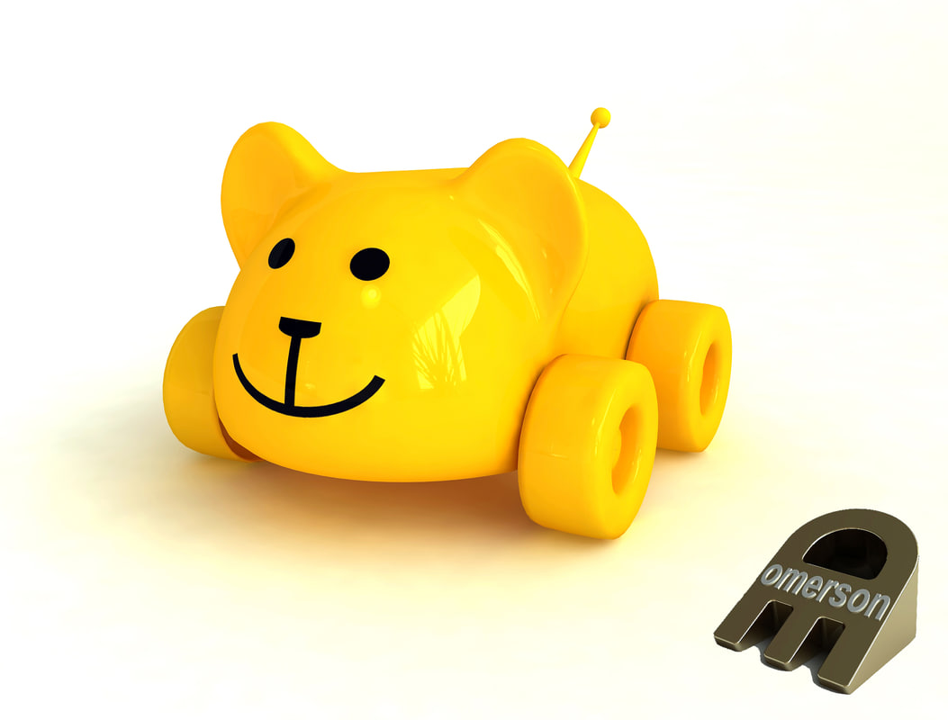 3D model toy bear car