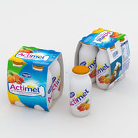 3D actimel multifruit fruit