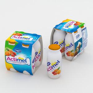 3D actimel multifruit fruit