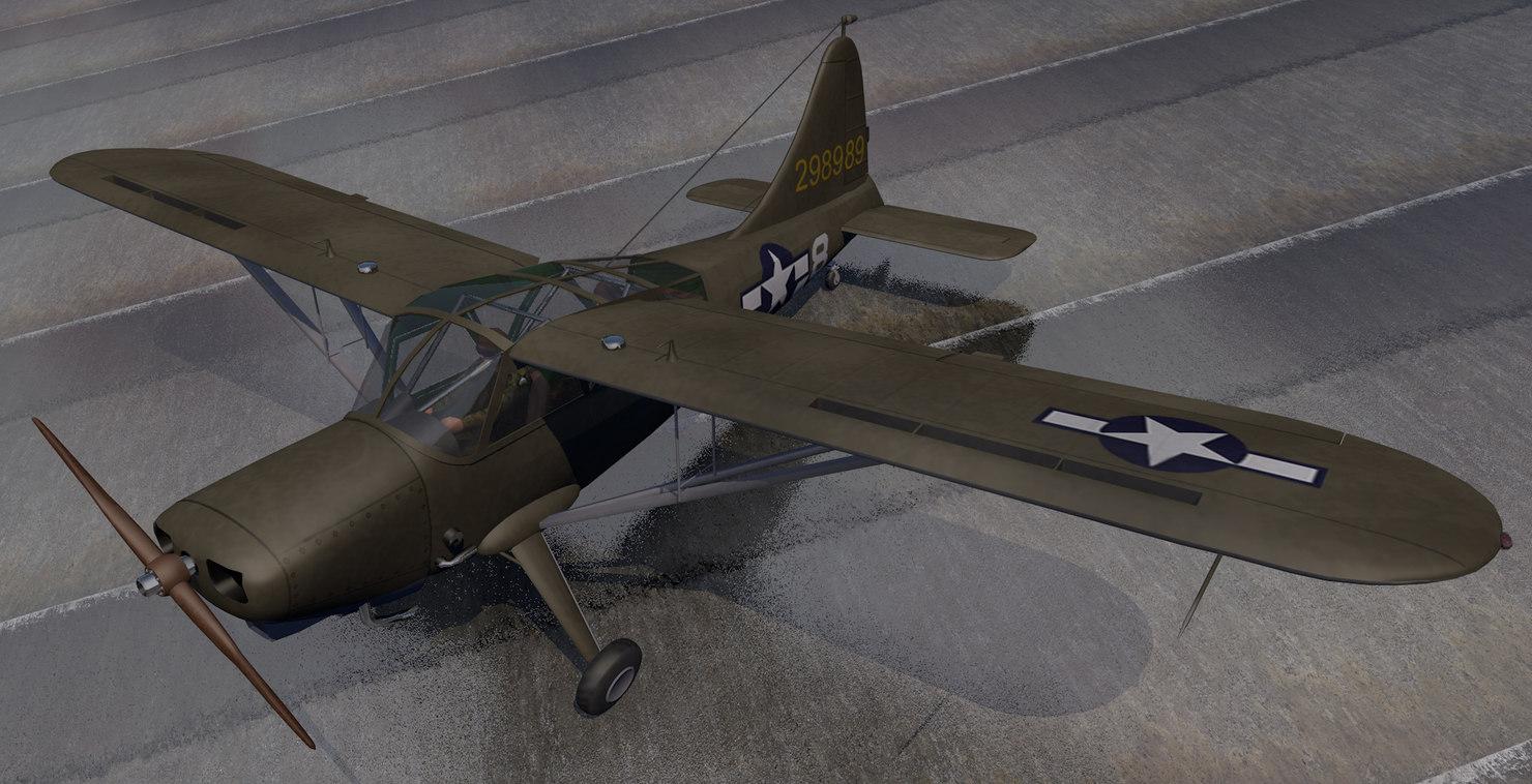 plane stinson l-5 sentinel 3D