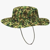 military boonie hat 3D model