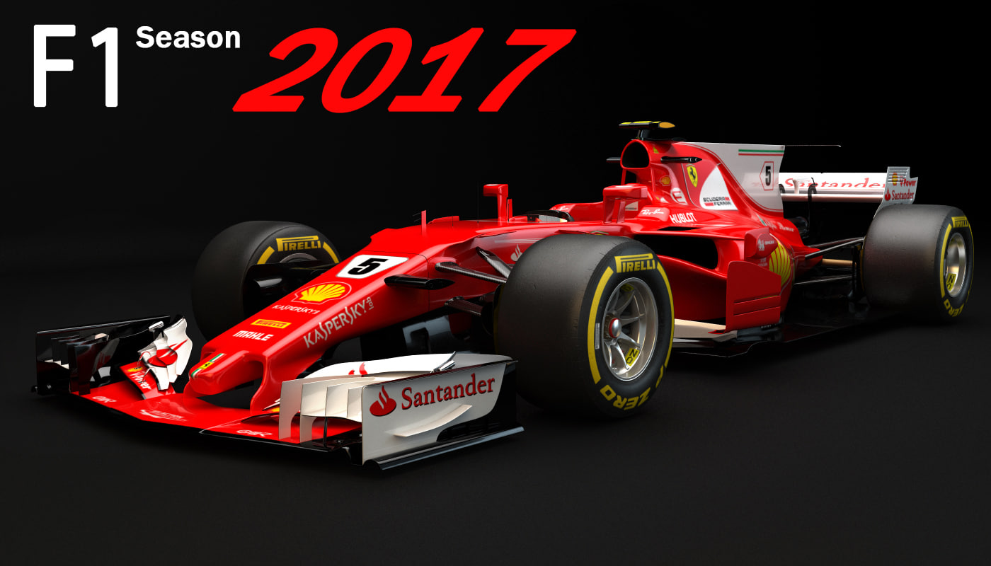 3d f1 ferrari sf70h 2017 model turbosquid 1180004. Black Bedroom Furniture Sets. Home Design Ideas