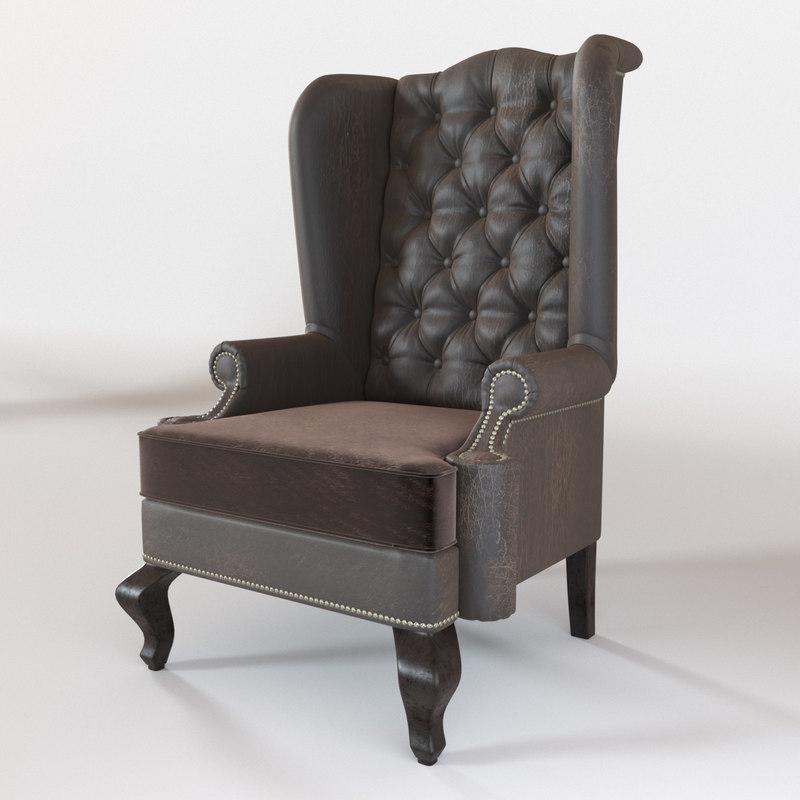 3D armchair empire