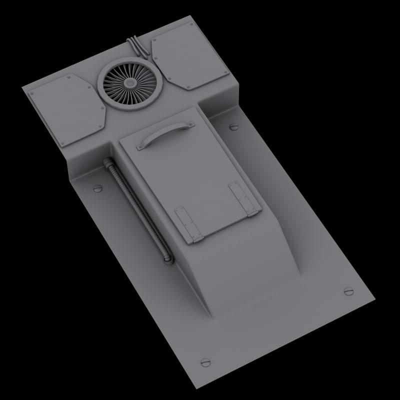 sci-fi device 1 3D