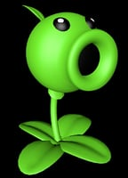 3D peashooter plants vs