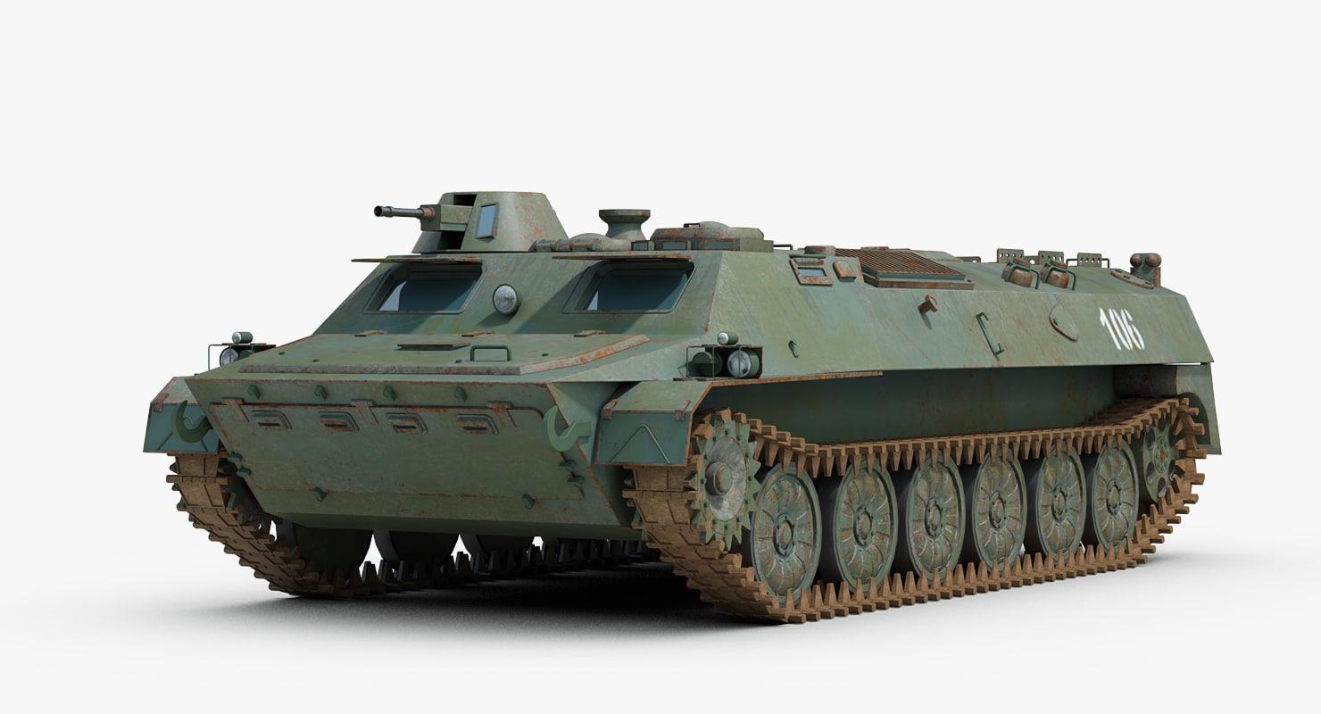3D model soviet mt-lb