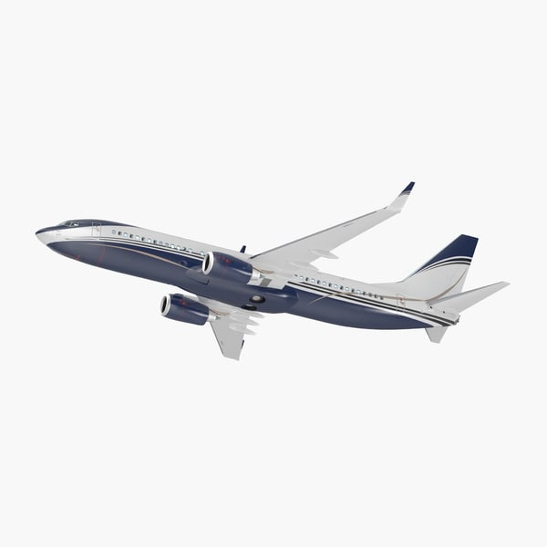 3D boeing 737-800 interior generic model