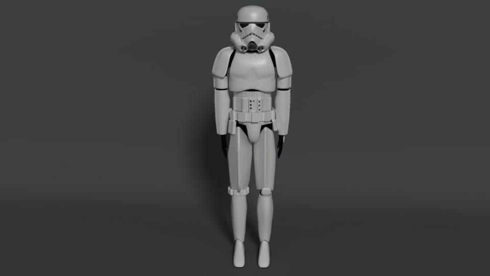 stormtrooper dark 3D model