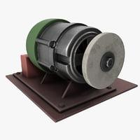 3D handmade grindstone