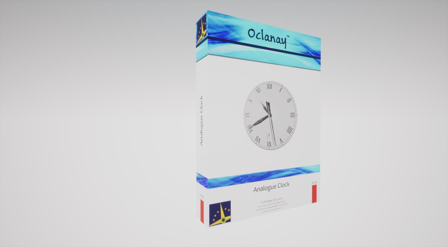 3D model analogue clock unreal engine