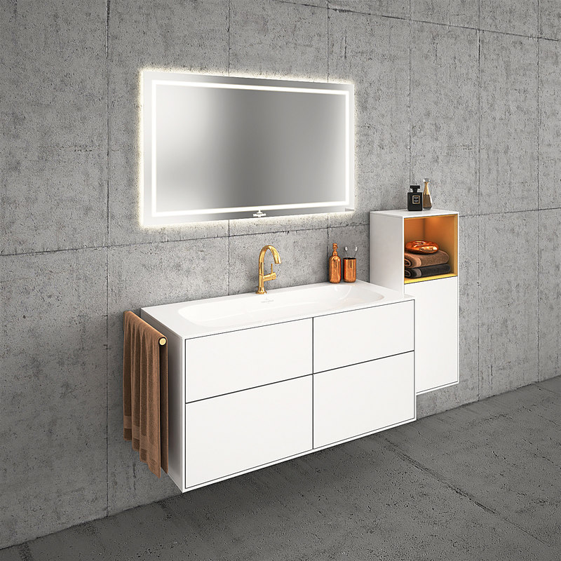 Villeroy and boch bathroom latest villeroy u boch my nature duo bath white wooden console for Villeroy and boch bathroom accessories