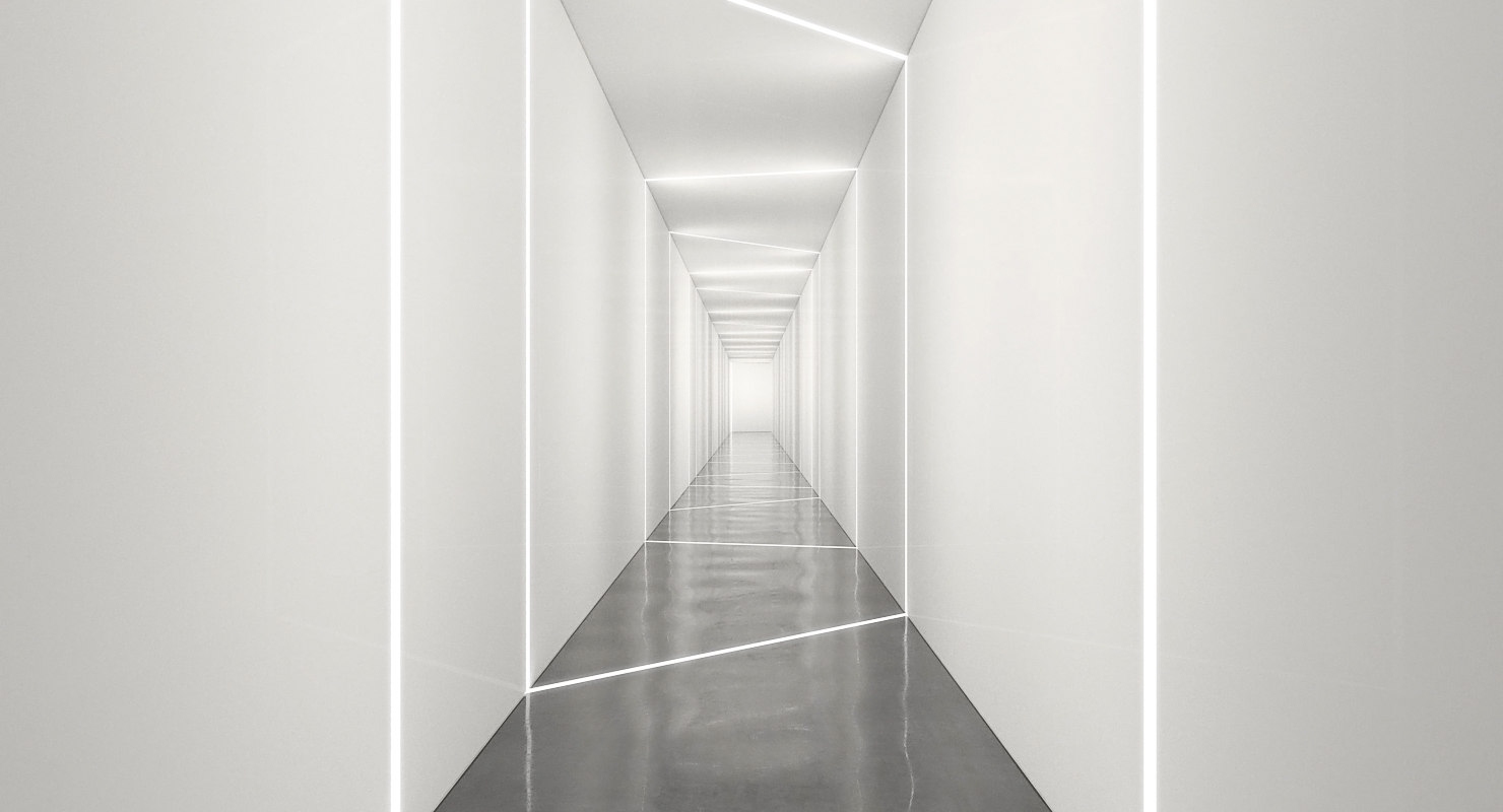 3D hallway light realistic model