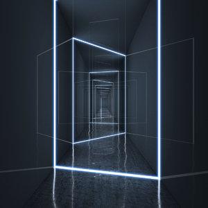 hallway light realistic model