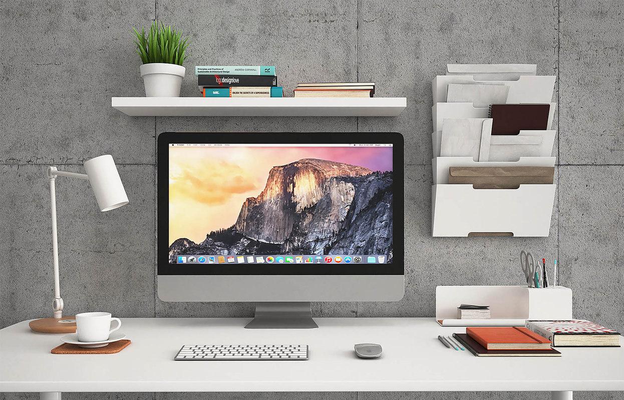 ... Ikea Bekant Desk Fjallberget 3D ...