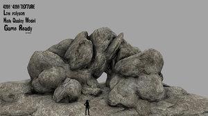 3D rock cave model