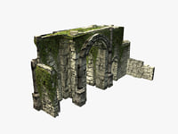3D jungle ruins gate