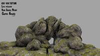 3D model moss rock