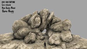 3D model desert rock