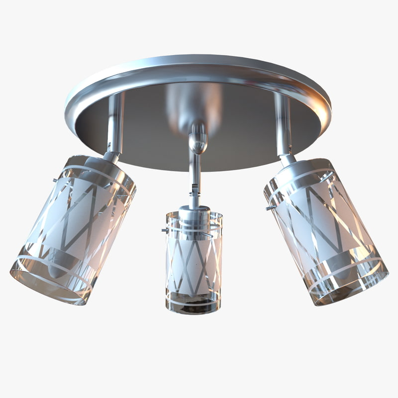 ceiling chrome chandelier 3D model