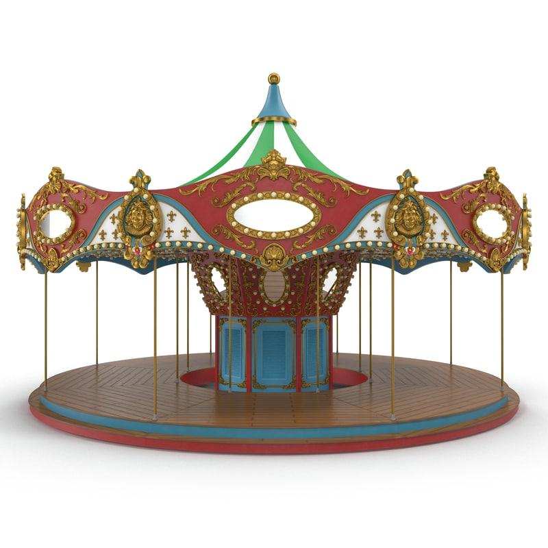 3D carousel base model
