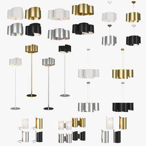 chandelier pittore lightstar lamp 3D model