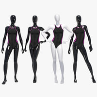 3D female swimming suit