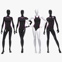 3D female swimming suit