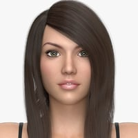 female hair doris 3D model
