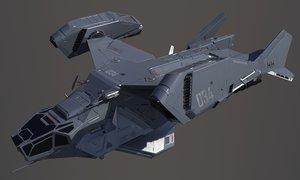 3D sci-fi space ship