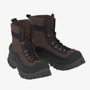 boots winter 3D